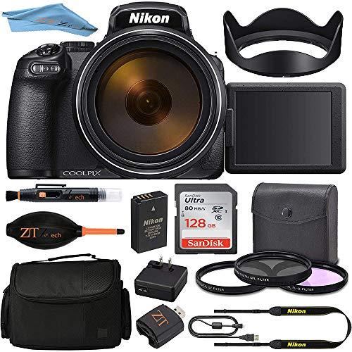 Nikon COOLPIX P1000 Digital Camera (Black) 26522 + 128GB 4K ZeeTech Pro Accessory Kit: International Version
