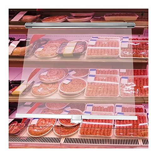 HAIPENG Tende Rullo Trasparente, Impermeabile Isolamento Termico Tenda con Maniglia Traino, Prova Polvere Pellicola Pet per Carne Frutta Preservazione, 26 Taglie (Color : Chiaro, Size : 75cmx180cm)