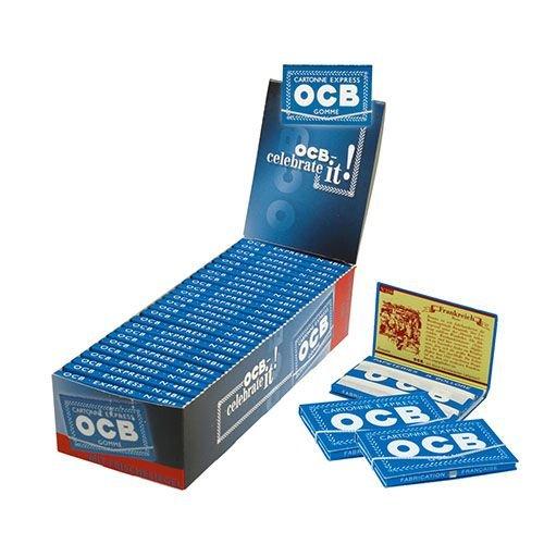 Zigarettenpapier OCB Blau Gummizug 25 Heftchen à 100 Blättchen