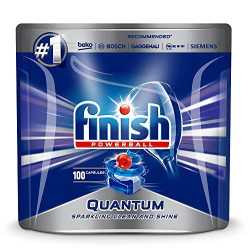 Finish Quantum Max 100pieza(s) Detergente para lavavajillas + Rinse aid + Salt Compressa