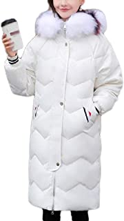 Women's Down Jacket Windproof Warm Outdoor Leisure Fur Collar Hooded Lightweight Slim Wild Women's Clothing (Color : White, Size : XL)