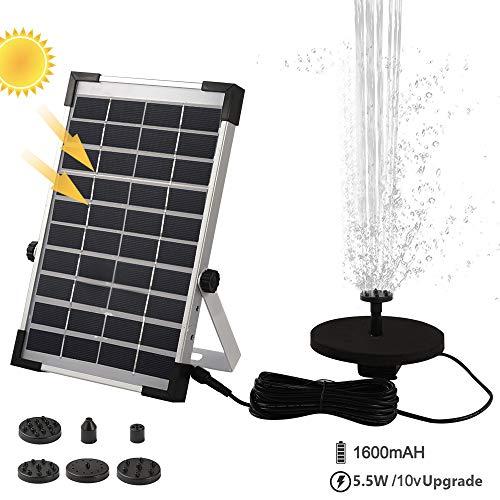 Fuente solar Bcamelys flotante, bomba de agua de 5,5 W con 6