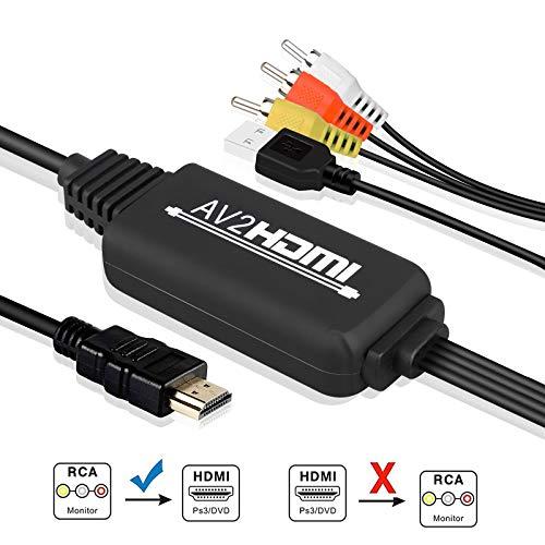 TOOGOO Mini AV CVBS compuesto Video al HDMI conversor escalado hasta 1080p R