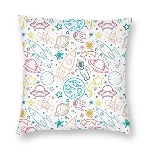 Fundas de almohada pintadas a mano para sofá, funda de almohada decorativa de regalo de 45 x 45 cm