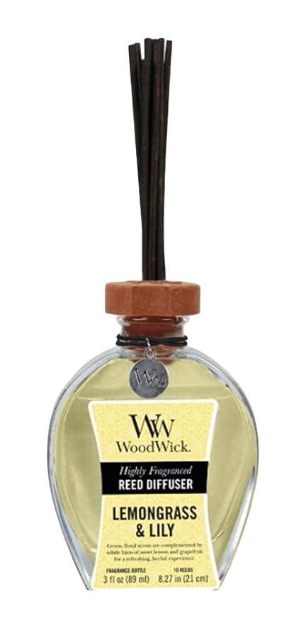 邪魔アクセント比類のないWood Wick ウッドウィック リードディフューザーS レモングラス&リリー