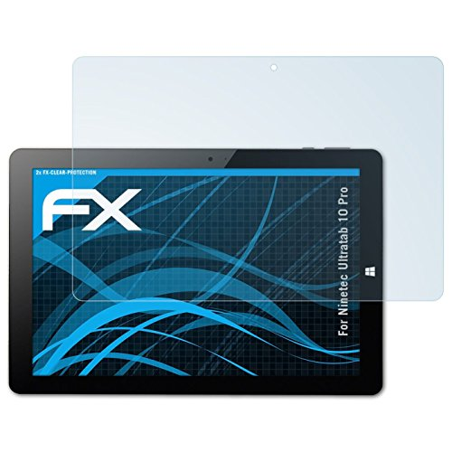atFolix Schutzfolie kompatibel mit Ninetec Ultratab 10 Pro Folie, ultraklare FX Bildschirmschutzfolie (2X)