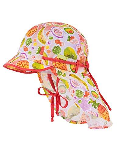 maximo Baby-Mädchen, Schild, Nackenschutz, Bindeband Mütze, Mehrfarbig (Tangerine-Früchte 30), 51