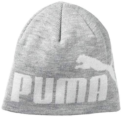 PUMA Evercat - Gorro para hombre, color gris y blanco, talla única