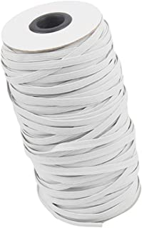 ROOYA BABY 50m Gummiband N/ähen 6mm wei/ß f/ür Mundschutz Elastisches Band Gummib/änder Gummilitze Elastic Kordel zum n/ähen f/ür Stricken Handwerk