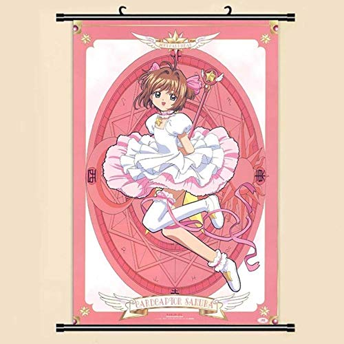 eaodz Anime Manga Card Captor Sakura Wall Scroll Painting Picture Wallpaper Stickers Poster Home Room Decor, 33,40x60cm