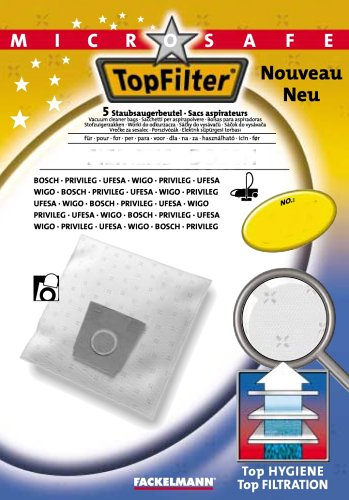 Top Filter microsafe 5 Staubsaugerbeutel Nr. 133