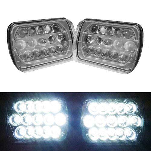 LED Headlights New Version 5D Len for Kenworth T300 7x6 Inch Rectangular Pair Sealed Beam Headlamp Housing) - Super Bright 6000K High-Low Dual Beam H4 Plug Lights Conversion Kit H6014 H6052 H6054 6054