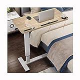 NBVCX Piezas de maquinaria Mesa Ajustable sobre la Mesa de Cama y Escritorio para computadora portátil Ajustable en Altura Superior Ajustable (Color: mármol Blanco (40 * 80) A)