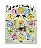 Marco de Fotos Metálico Infantil Portafotos de Aluminio para Bebé Nacimiento 12 Meses