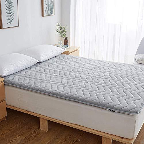 WZF Soft flannel mattress, mattress cover Mattress cover Thin Tatami mat Twin Full Queen King-gray 90x200cm (35x79inch)