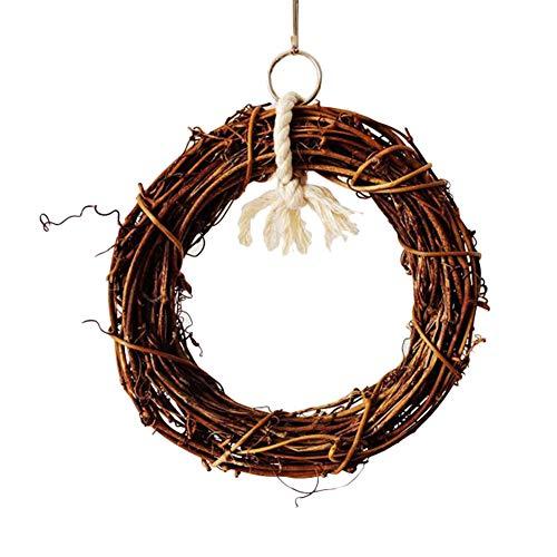 Feli546Bruce Vogelzubehör, 15 cm, für Papageien und Vögel, Rattan, zum Aufhängen, Klettern, Kauen, Käfig, Spielzeug