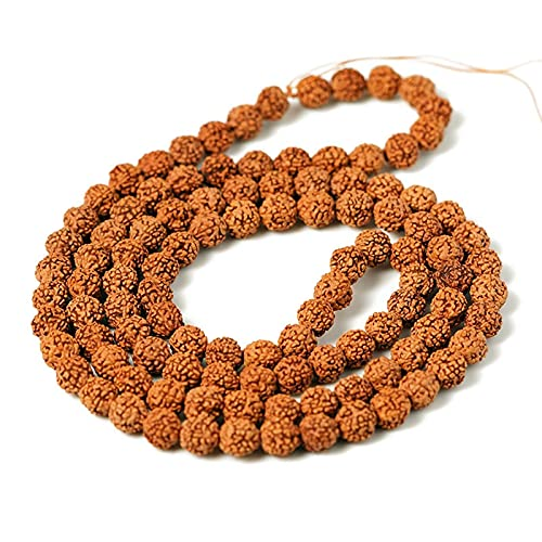 JONJUMP Nature 108 piezas Vajra Bodhi Rudraksha Cuentas Meditación Mala Bead Hacer Oración Chakras Bodhi Tibetano Budismo Accesorios