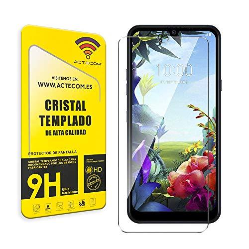 actecom® Cristal Templado Protector Pantalla 9h 2.5D para LG K40s Vidrio Display