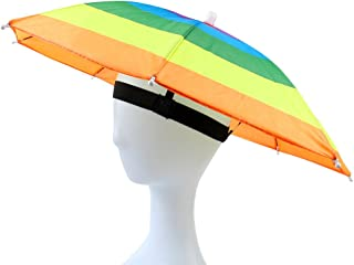 umbrella hat with beer holder