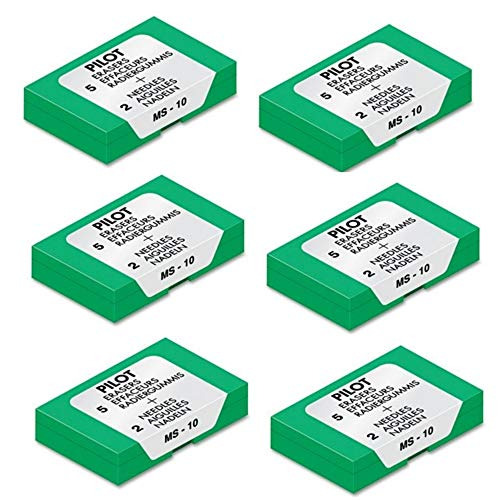 Pilot (70001) MS-10 Eraser Refill, Sold as Six Packs of Five: Total of 30 Each