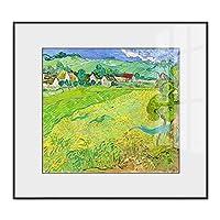レトロな抽象的な油絵、ソファの背景の壁、モダンな牧歌的な絵画上の光の高級装飾的な絵画 Style 1-40*40cm