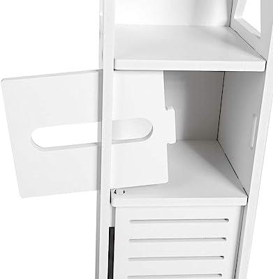 Amazon.com: VASAGLE ULSC34BX armario de almacenamiento para ...