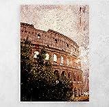 ZFLSGWZ Roma Vintage Abstracto Lienzo Pintura Cartel Pared Arte Imagen Impresiones En La Pared Decoración del Hogar-50X80 Cm Sin Marco