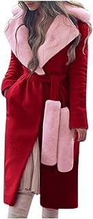 LODDD Winter Warm Women's Fashion Coat Thicken Turn-Down Collar Waist Bandage Woolen Coats