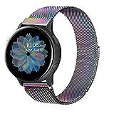 Senka 20mm Metal Correa Compatible con Samsung Galaxy Watch Active 40mm/Active2 40mm 44mm,Pulseras de Repuesto de Inoxidable para Samsung Galaxy Watch 42mm/Watch 3 41mm/Gear Sport(20mm,Vistoso)