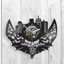 Batman, Gotham City, Vinyl wall Clock, Batman Returns, Dark Knight, 2018, Arkham Knight, Home Decor, Vinyl Record, Pop Modern Wall Art, Best Gift for Him, Her, Women, Kid, Kitchen Decor, Unique Design