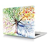 HRH for MacBook Air 13 Case(M1 A2337/A2179/A1932,2020-2018) 3D Print Design Laptop Body Shell PC Plastic Hard Case Cover for Mac Air 13.3 Retina Display Touch ID-Watercolor Art Four Seasons Tree
