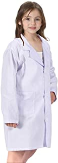 America Kids Unisex Doctor Lab Coat & Childrens Doctor Scrub Set Role Play Costume Dress-Up for Christmas Halloween