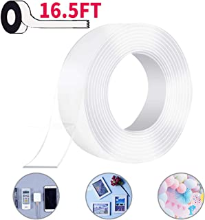 Nano Double Sided Tape 16.5FT (5M),Reusable Washable Heavy Duty Tape,Multipurpose..