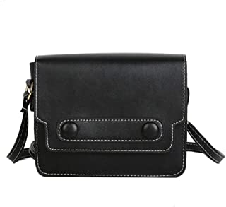 Waymine Women's Wild Shoulder Bag Retro Solid Small Bag Messenger Bag Vintage Crossbody Bag