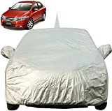 Autofact Car Body Cover for Honda City Ivtech (2009 to 2013) with Mirror and Antenna Pocket (Light Weight, Triple Stitched, Heavy Buckle, Bottom Fully Elastic, Silver Matty)