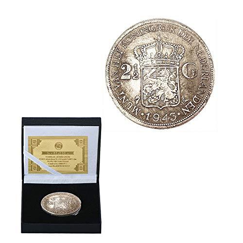 1943 Niederländischer Schild Antiquität Gedenkmünze Sammlung Von Münzen William Minga-Königin. Erdenkömmliche Silbermünzen Münze Versammeln/Silber/Runden