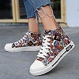 WFQGZ Hip-Hop Women's Shoes Tide Hip-Hop High-Top Shoes Women's Board Shoes Wild GAO Bang Sports shoes-35_CE-1202 Coke