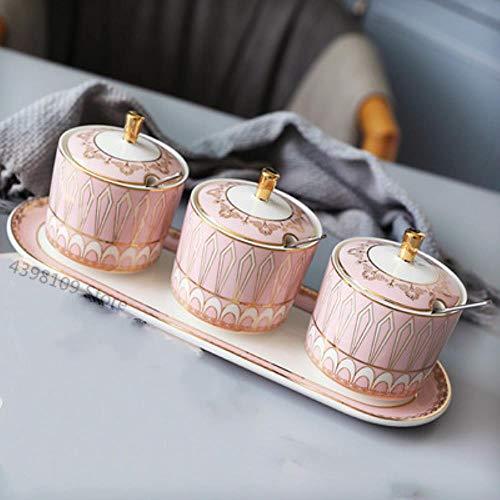 Salt Shaker Suikerpot voor Spice Opslag Container/Opslag Potten Keramische Kruiden Pot Home Kitchen Kruiden Tool, 3st-H