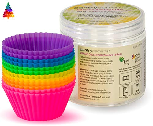 Silicone Cupcake Liners Baking Cups - 12 Pack