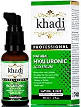 Khadi Global Natural Hyaluronic Serum 30ml Best Face Serum for Both Men & Women, Best Anti Ageing Serum, Best Anti Wrinkle Serum, Best Night Serum, Best Beauty Serum Retains skin moisture