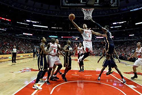 WOAIC Chicago Bulls Players Derrick Rose Basketball NBA Pósteres For Bar Cafe Home Decor Painting Wall Sticker Frameless 24X36 Inch(60X90CM)