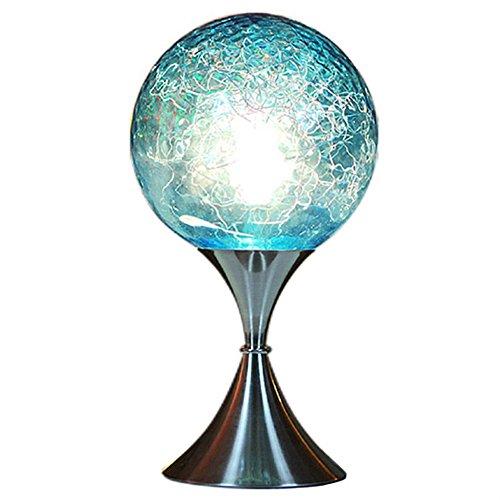 KMYX Brilliant Blue Planet Lampe De Bureau Lumières Moderne De Mode Lampe De Table Lampe De Lecture Lumière Lampe De Chevet pour Bureau D'étude Chambre Classique Dortoir Bibliothèque Bureau Lumières