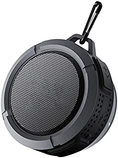 ZYZRYP Hands-Free Shower Speaker, Bluetooth Speaker, Waterproof Speaker, Wireless Speaker With 5W Driver Suction Cup (Color : Black)