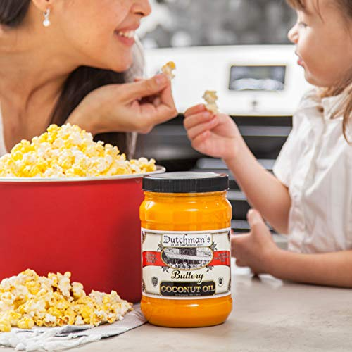 Product Image 8: Dutchman's Popcorn Coconut Oil Butter Flavored Oil, 30oz Jar – Colored with Natural Beta Carotene, Makes Theater Style Popcorn, Top Rated, Vegan, Healthy, Zero Trans Fat