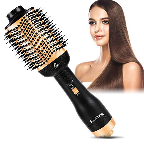 Hot Air Brush, Hair Dryer Brush, One-Step Hair Dryer & Volumizer, 5 in 1 Upgrade Negative Ion Portable Air Hair Brush, Low Noise Blow Dryer Brush,Professional for All Hot Air Styler