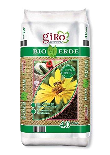 40 Liter GiRo Premium Bio-Erde Premium Qualität 100 % torffrei