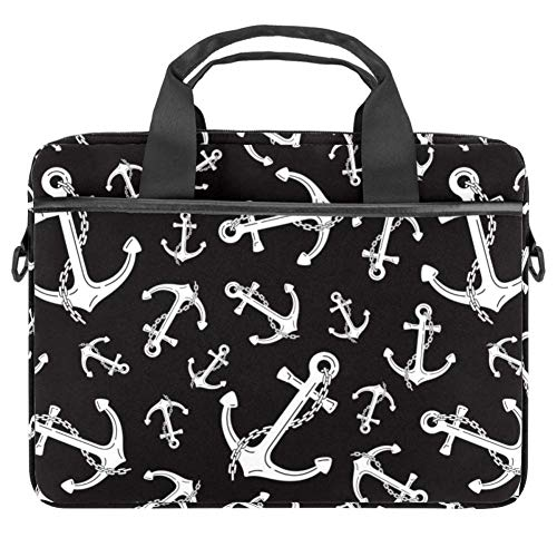 Anker Kette nautische Maritime Laptop Tasche Messenger Bag Slim Aktentasche mit Crossbody Schultertasche Computer Tasche Computer und Tablet Tragetasche für 33,4-36,5 cm