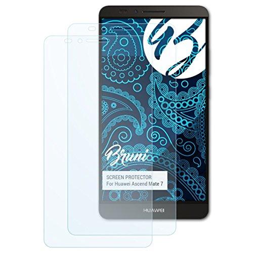 Bruni Schutzfolie kompatibel mit Huawei Ascend Mate 7 Folie, glasklare Bildschirmschutzfolie (2X)
