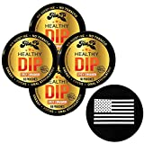 TeaZa Herbal Energy Pouch Cinnamon 4 Cans with DC Crafts Nation Skin Can Cover - US Flag