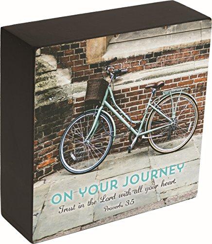 Carpentree 15,2 x 15,2 x 5,1 cm journey-trust in de Lord Box Plaque